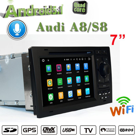 Carplay Audi A8 S8 Android 9.0 Multimedia Gps Navigation Screen Mirroring Bluetooth Usb Tf Fm Aux Apple CarPlay Andro
