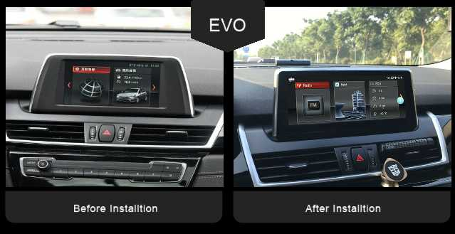 "BMW X1 F48 X2 F39 2 Series F45 F46 EVO 8.8"" Android 8.0 Touchscreen Multimedia GPS Navigation USB WIFI"