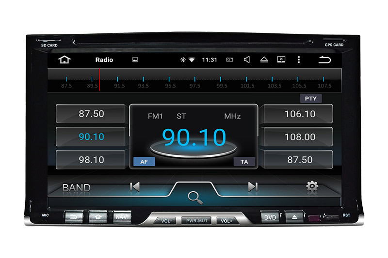 "6.95""Android 7.1 Universal Double DIN CAR DVD GPS Player wifi connection,3g internet"