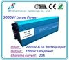 12V/24V to 220V dc ac 5000Watt Pure sine wave solar battery inverter ups inverter battery charger