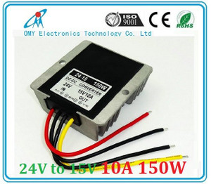 24V drop to 15V 10A 15A 20A step down Aluminum alloy shell IP65 waterproof dc dc converter power converter