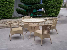 Garden Furniture Rattan Dining Set Table and Chairs