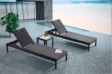 Outdoor Wicker/Rattan Beach Sun Lounger (LN-093)