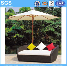 Leisure Furniture 3 Seater Poly Rattan Wicker Sofa