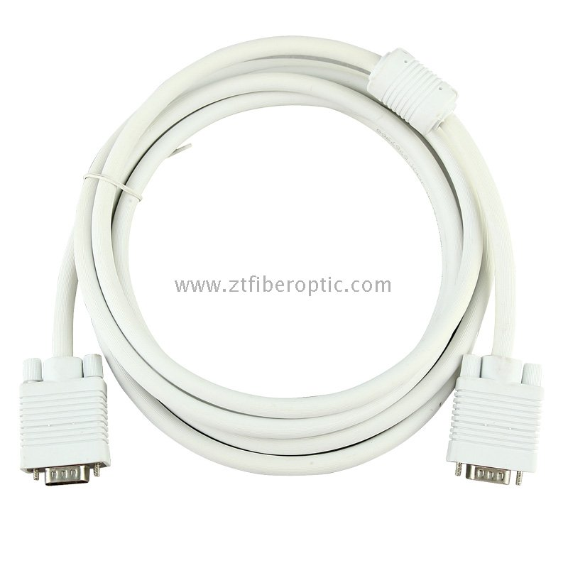 High quality aluminium casing 10ft 30ft computer VGA to VGA cable