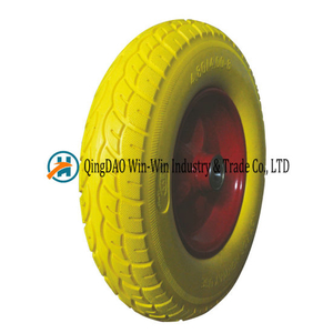 Flat Free PU Wheel for Construction Wheelbarrow (4.80/4.00-8)