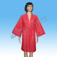 Disposable Nonwoven colorful Sauna Kimono