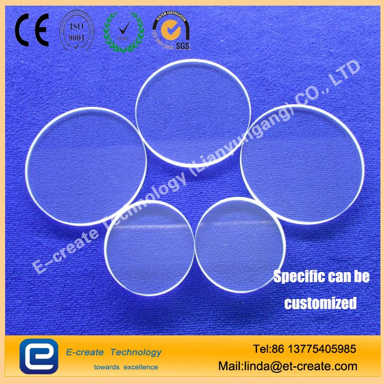 High-temperature quartz glass, quartz pieces of Fang Yuan, frosted tablets, transparent lenses, ordered to do processing