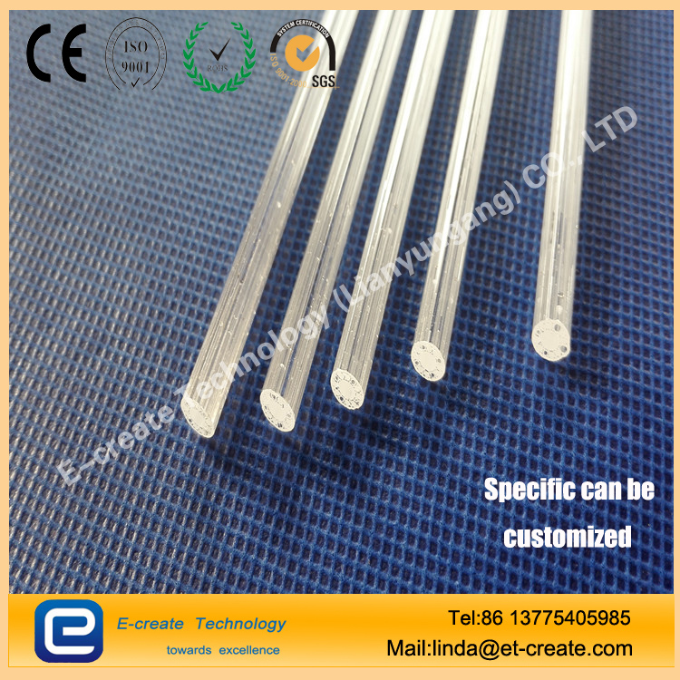 Fiber industry with four-hole quartz tube