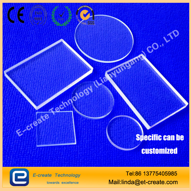 Heat Resistant square quartz glass plate for Digital camera, high definition projector, stage lighting system