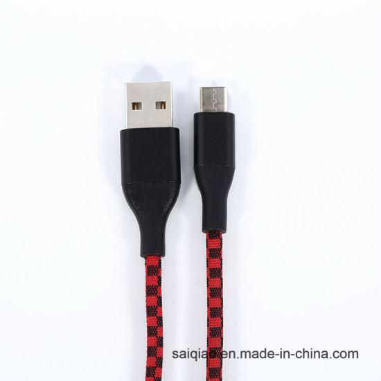 USB Type-C2.0 Double Color Mixing Braided Charging Data Cable