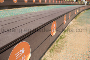 Eco-Friendly Solid Wood Plastic Composite WPC Outdoor Decking Floor