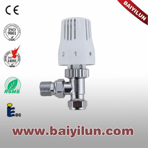 Thermostatic Radiator valve,Red copper pipe angle valve