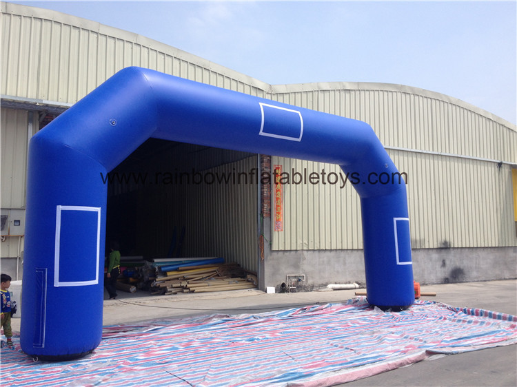 RB21034(8x4m) Inflatable Giant Blue Welcome Arch For Sale
