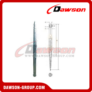 DSb03 N65 × 1600 Earth Auger N Ground Pile Series