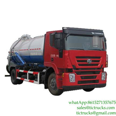 10000L_10m3 Hongyan IVECO sewer cleaning truck 4x2 Euro 4,5