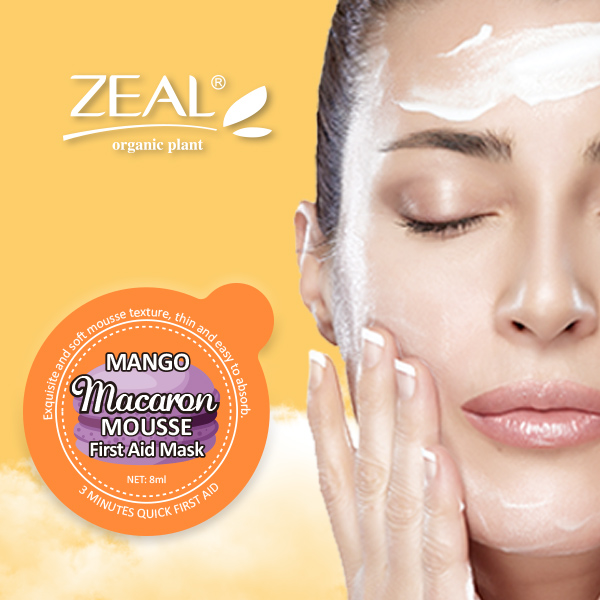 ZEAL Mango Mousse Texture Facial Mask