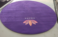 Custom Printed Suede Fabric Yoga Mat