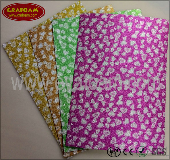 Glitter Film EVA Foam Sheets (Heart)