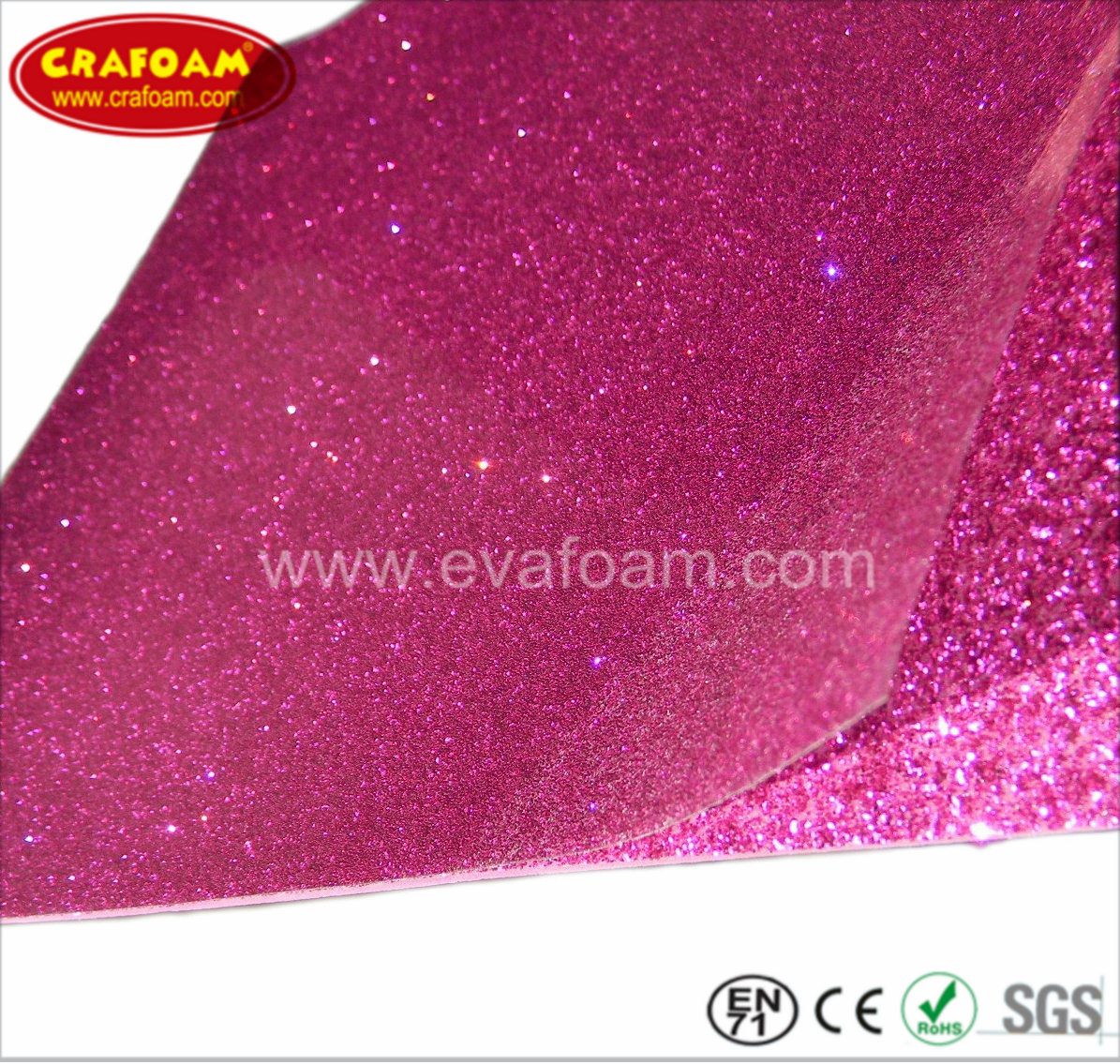 Glitter EVA Foam Sheets with Films