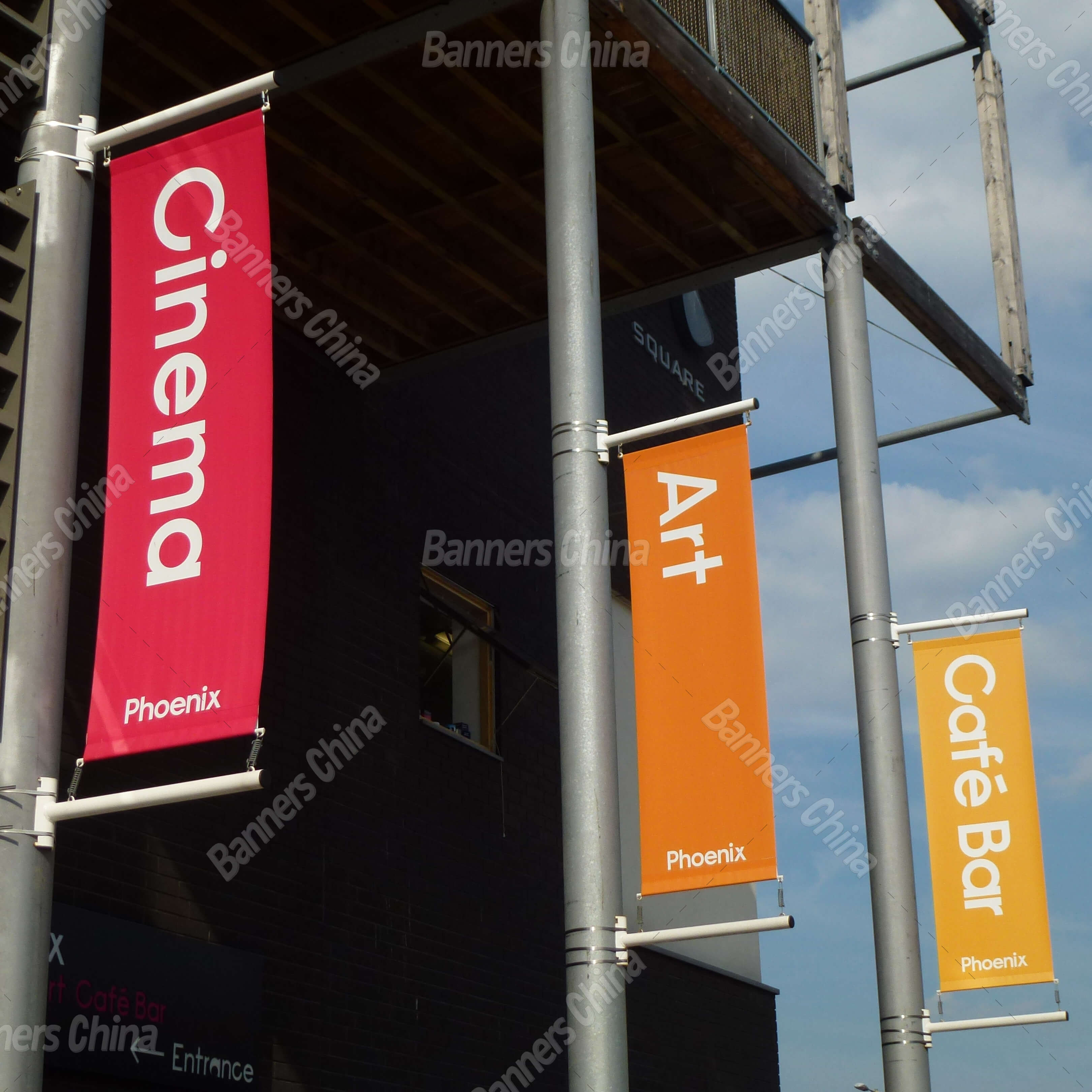 Outdoor Vertical Street Banner Flags From China