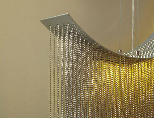 modern chain lamp rogue wave chandelier water pressure lighting from