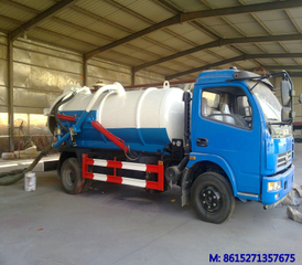 DTA5090GXW Dongfeng DLK vacuum sewage suction tank truck 6000L