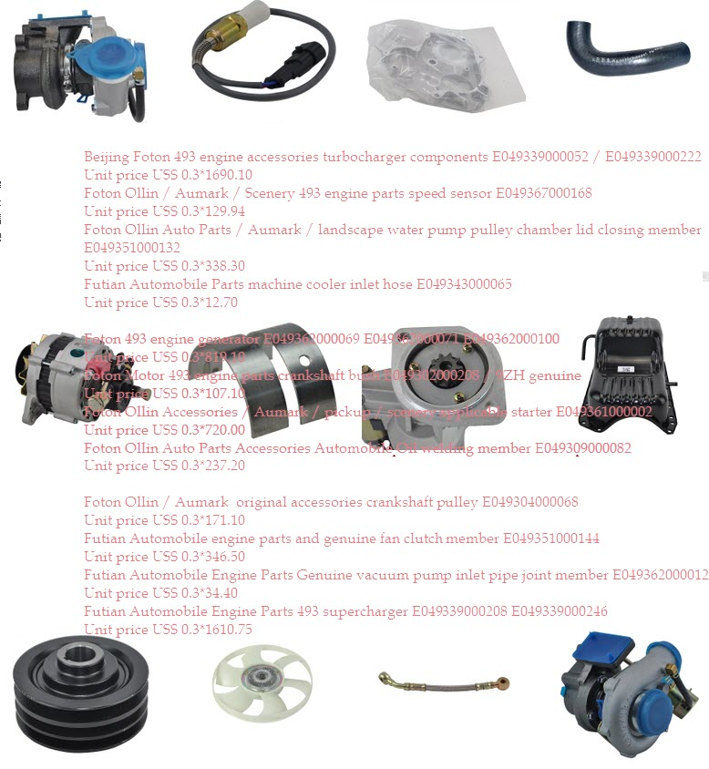 Foton Ollin engine parts 3 -Hubei Dong Runze Special Vehicle ...
