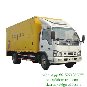 ISUZU 100kW 50hz 3 phase 220V generator truck for sale Euro 4 ,5
