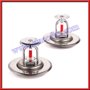 Fire sprinkler with two-piece recessed adjustable escutcheon plate
