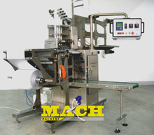 600-800 Bags/min Four Lanes Alcohol Cotton Swab Prep Pad Making and Packing Machine