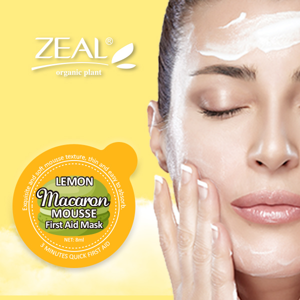 ZEAL Lemon Mousse Texture Facial Mask