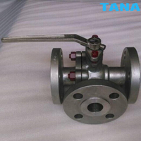Flanged 3 way ball valve