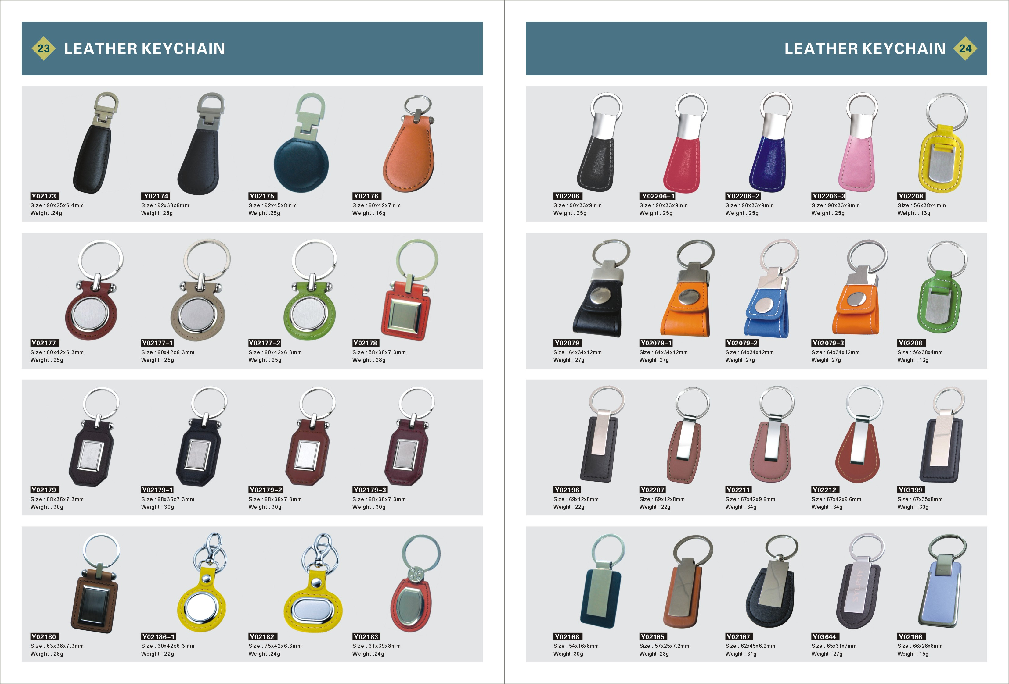 Blank Leather Key chains