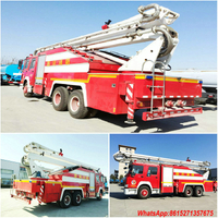 HOWO high jet water tower fire truck