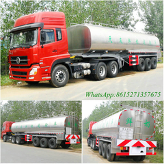 stainless steel 3-axle milk transportation semi trailer