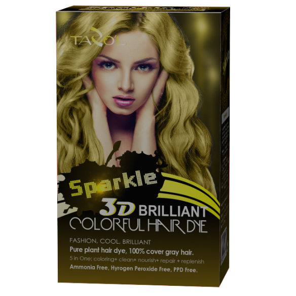 3D Briliant Free Ammonia Hair Dye 150ml Yellow Color
