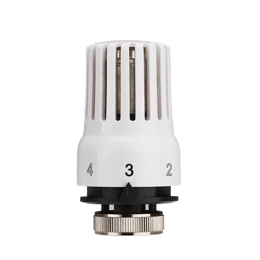 Baiyilun 15mm Thermostatic Radiator Valve with Straight Valve for Home Heating TRV