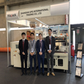 UP Group carry automatic shrink packing machine, desktop sealing machine and multi-lanes liquid packing machine to participate in Hispack 2018