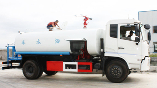 DFL 10T water tanker with fire pump truck
