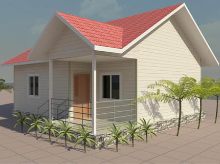 Light Steel Villa 67 square meter  (2 bedrooms and 1 washroom)