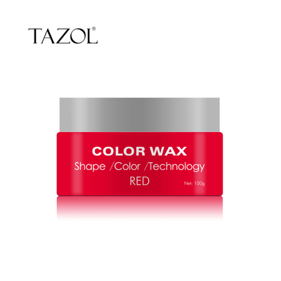 Tazol Temporary Hair Color Wax with Red Color 100g