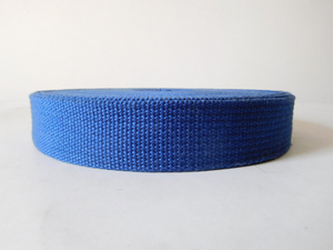 30mm blue Cotton webbing for garment&accessories
