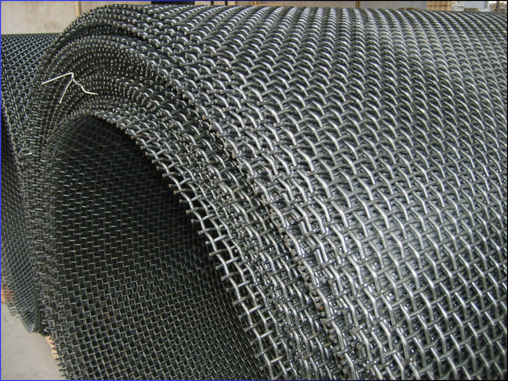 Crimped Wire Mesh : Energy saving black wire stainless steel crimped mesh