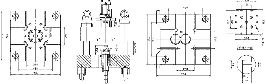 mold plate size of 180tons/1800kN Cold Chamber Die Casting Machine