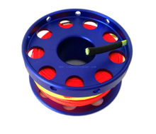 30m/100ft Aluminum Cave Scuba Diving Finger Spool Reel