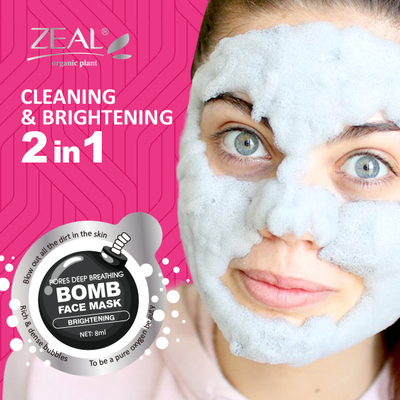 Pore Deep Cleaning Brightening Bubble Facial Mask Cleaning