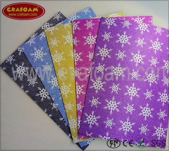 Glitter Film EVA Foam Sheets (Snow)