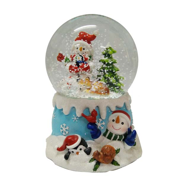 Santa Claus snow ball