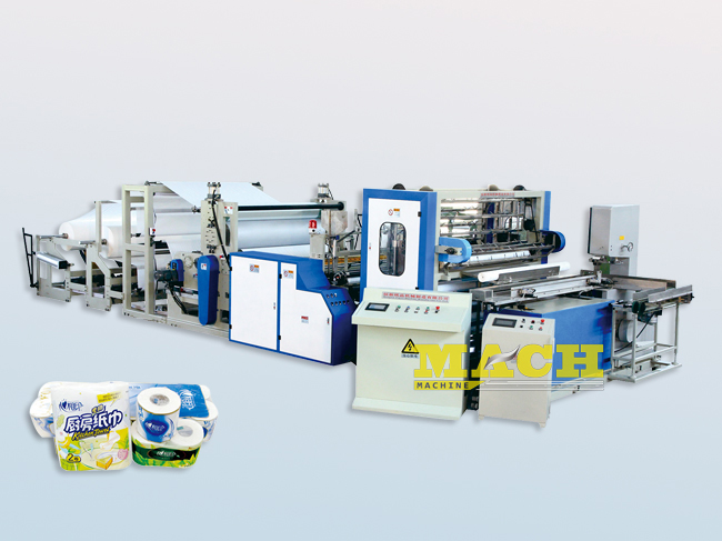 Automatic Color Gluing Kitchen Towel Manufacturing Machine